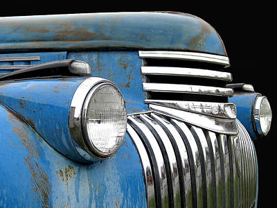 Photograph - 1942 Chevrolet - Blue by Larry Hunter