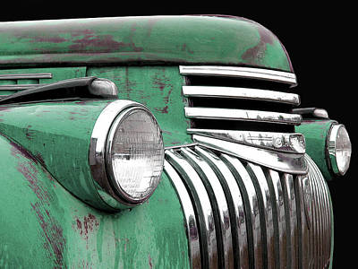 Photograph - 1942 Chevrolet - Green by Larry Hunter