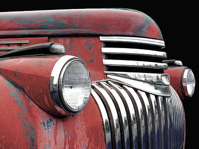Photograph - 1942 Chevrolet - Red by Larry Hunter