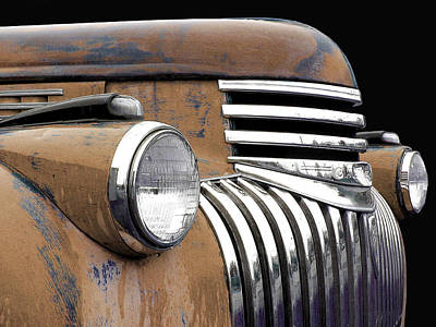 Photograph - 1942 Chevrolet - Tan by Larry Hunter