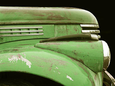 Photograph - 1942 Chevy Pick-up - Green by Larry Hunter
