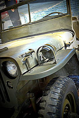 Antique Ford Truck Grill Photograph - 1942 Ford U.s. Army Jeep L by Michelle Calkins