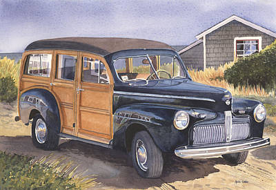 Cape Cod Painting - 1942 Ford Woody by Heidi Gallo