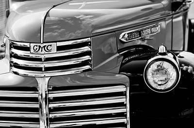 Photograph - 1942 Gmc Grille Emblem by Jill Reger