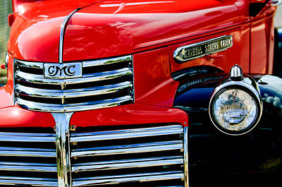 Vehicle Photograph - 1942 Gmc  Pickup Truck by Jill Reger