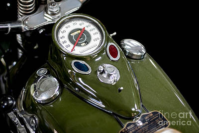Photograph - 1942 Harley Davidson Instrument Panel by Barbara McMahon