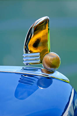 1942 Lincoln Continental Cabriolet Hood Ornament Print by Jill Reger