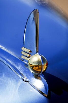 Photograph - 1942 Lincoln Zephyr 12 Hood Ornament by Jill Reger