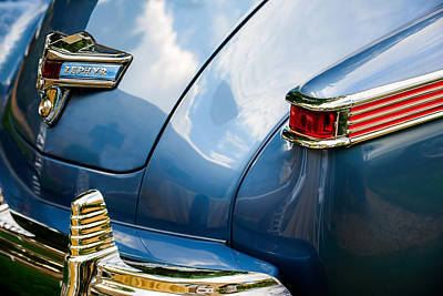 Lincoln Photograph - 1942 Lincoln Zephyr Coupe Taillight Emblem -1516c by Jill Reger