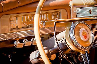 1942 Photograph - 1942 Packard Darrin Convertible Victoria Steering Wheel by Jill Reger