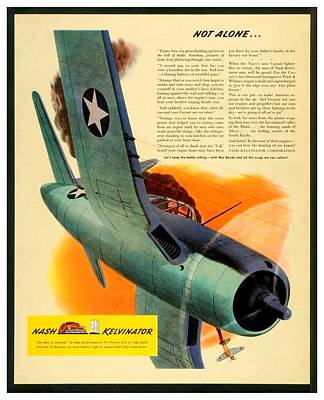 1943 - Nash Kelvinator Advertisement - Corsair - United States Navy - Color Art Print