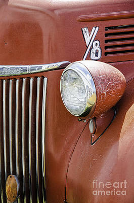 Photograph - 1944 Ford Pickup - Headlight by Mary Carol Story