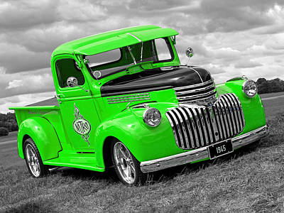 Photograph - 1945 Chevy In Green by Gill Billington