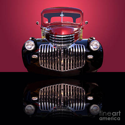Photograph - 1946 Chevy Panel Truck by Jim Carrell