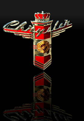 Photograph - 1946 Chrysler Hood Emblem by Tim McCullough