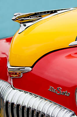 Pebble Beach Photograph - 1946 Desoto Skyview Taxi Cab Hood Ornament by Jill Reger