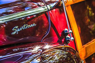1946 Wall Art - Photograph - 1946 Ford Super Deluxe Sportsman Convertible Side Emblem by Jill Reger