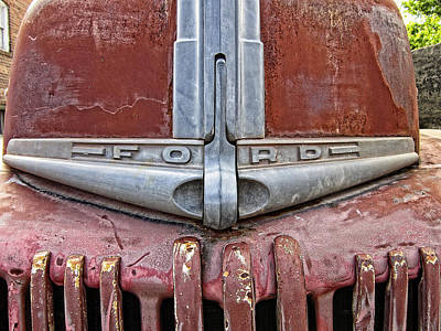 Old Trucks Photograph - 1946 Ford Truck Grill And Face Plate by Daniel Hagerman