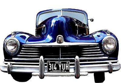 State Word Art - 1946 Hudson by Ron Harpham