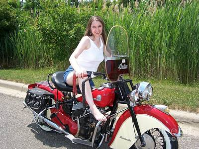 Photograph - 1946 Indian Chief Motorcycle by Classic Spokes And Strings