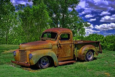 Photograph - 1946 International Pickup Truck by Tim McCullough