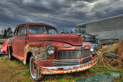 Photograph - 1946 Mercury In Car Graveyard  by Willie Harper