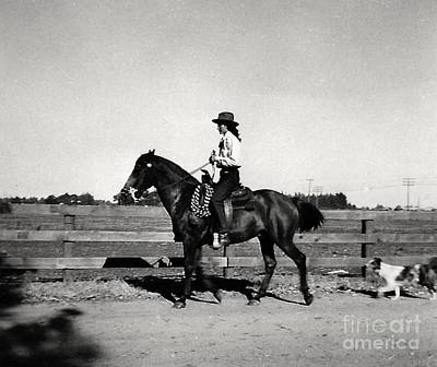 Photograph - 1946 Phyllis And Spunky And Spot by Phyllis Kaltenbach