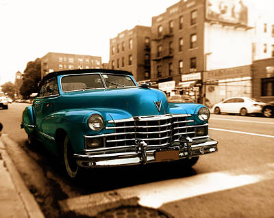 1947 Cadillac Convertible Art Print by Jon Woodhams