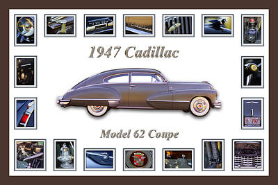 Montage Photograph - 1947 Cadillac Model 62 Coupe Art by Jill Reger