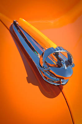 1947 Chevrolet Deluxe Hood Ornament Art Print by Jill Reger