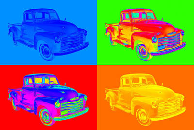 1947 Chevrolet Thriftmaster Pickup Pop Art Art Print by Keith Webber Jr