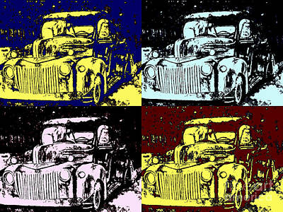 Photograph - 1947 Ford Pickup Pop Art by DJ Laughlin