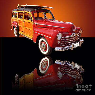 1947 Ford Woody Art Print by Jim Carrell