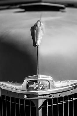 Photograph - 1947 International Hood Ornament - Emblem by Jill Reger