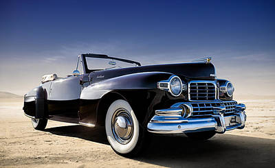 Chrome Digital Art - 1947 Lincoln Continental by Douglas Pittman