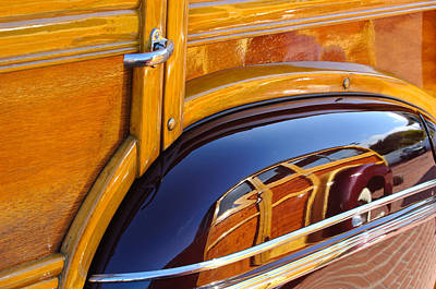 Photograph - 1947 Mercury Woody Reflecting Into 1947 Ford Woody by Jill Reger