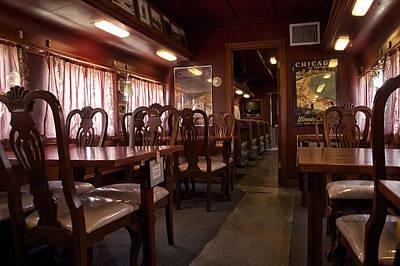 1947 Pullman Railroad Car Dining Room Art Print by Thomas Woolworth