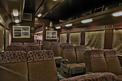 Central Il Photograph - 1947 Pullman Railroad Car Interior Seating by Thomas Woolworth