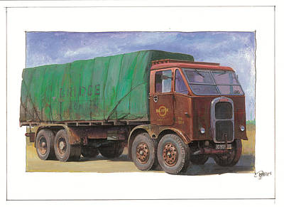 1947 Scammell R8 Art Print by Mike  Jeffries
