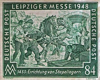 Photograph - 1948 Allied Occupation German Stamp by Bill Owen