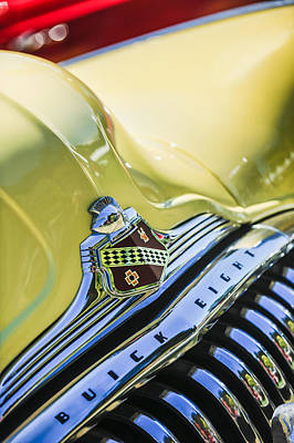 Photograph - 1948 Buick Roadmaster Convertible Grille Emblem -0725c by Jill Reger
