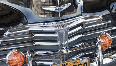 Photograph - 1948 Chevrolet Fleetmaster Grill by David Zanzinger