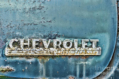 Blue Chevy Photograph - 1948 Chevrolet Thrift Master by Paul Ward