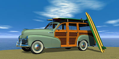 Digital Art - 1948 Chevrolet Woody by Walter Colvin