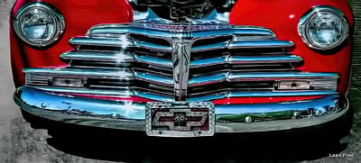 Photograph - 1948 Chevy 2100 Fk Fleetmaster Grill View by Lesa Fine