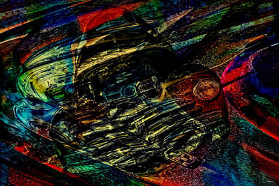 Mixed Media - 1948 Chevy Abstract Art by Lesa Fine