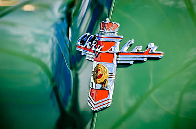 Photograph - 1948 Chrysler Town And Country Convertible Emblem -0974c by Jill Reger