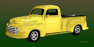 Painting - 1948 Custom Ford Pick Up by Jack Pumphrey