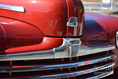 Ford Watercolor Photograph - 1948 Ford Coupe Vintage Car 4 by Barbara Dalton