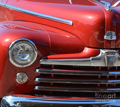 Ford Watercolor Photograph - 1948 Ford Coupe Vintage Car by Barbara Dalton